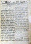 Portada de la 1ra edición del Correo del Orinoco.
