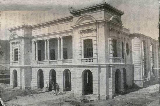 El Teatro Municipal de Valencia en plena construcción. Foto Y. Medina López, Tintateatro.