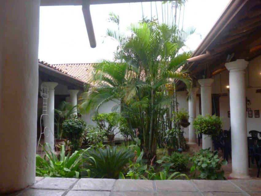 Foto 2. Jardin interno. Foto. Marinela Araque. Año 2017