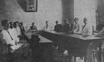 Recinto de reuniones, en 1940, tras la reconstrucción del palacio del marqués. Foto dig. Samuel Hurtado Camargo.