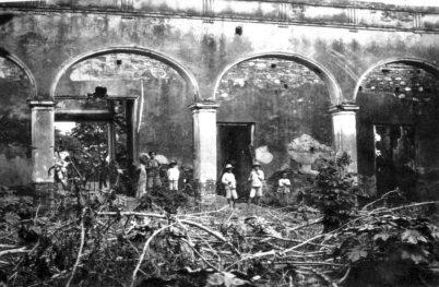 Ruinas del palacio del marqués, década del 30. Foto archivo del Cronista oficial de Barinas. Dig. M. Araque.