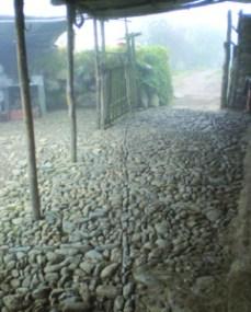 Patio de la Casa del molino, en Trujillo. Foto IPC.