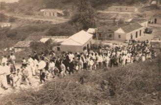 Pueblo de La Ciénaga en 1941. Foto digitalizada por Antonio Hernández / Lacienagacumarebo.