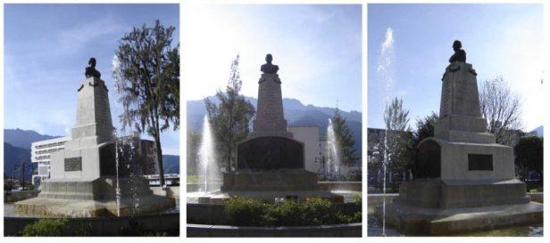 Monumento al coronel Vicente Campo Elías a 2 años de su restauración, diciembre 2006. Foto Samuel Hurtado Camargo
