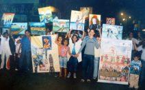 Niños participantes del taller de artes plásticas. Foto MAVHA.
