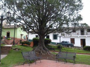 Bancos en la plaza Bolívar de Jajó. Foto Páez Films / Panoramio.