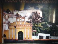 Se salvó el afiche de San Eleuterio y la iglesia. Foto Marinela Araque, mayo 2017.