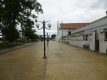 Bulevar de la iglesia San Nicolás de Bari, en la ciudad de Obispos, estado Barinas. Venezuela.