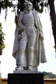 Cara frontal de la escultura del Gran Mariscal de Ayacucho. Foto Samuel Hurtado Camargo, 28 de mayo de 2017