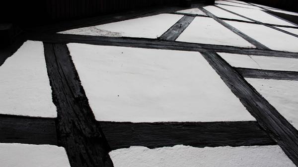 Detalles de pared con el entramado Fachwerck, casa Benitz. Foto: José Luis Rosales.