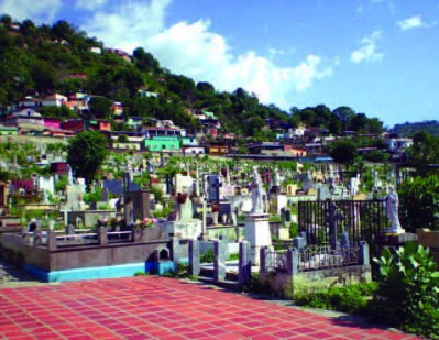 Vista del cementerio municipal de Valera. Trujillo, Venezuela.