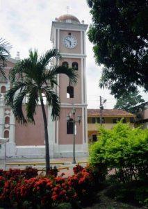 Detalle de la torre desde la plaza Bolívar. Foto Marinela Araque, año 2010.