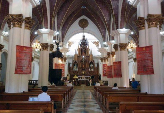 Interior de la iglesia de Capacho Nuevo. municipio Independencia del estado Táchira. Venezuela