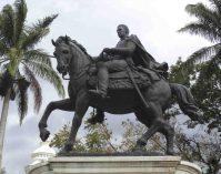 Lateral izquierdo de la estatua ecuestre del Libertador. Foto Samuel Hurtado Camargo, 28 de mayo de 2017