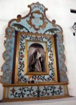 Retablo de la Virgen de la Dolorosa en la iglesia San Nicolás de Bari, del municipio Obispos del estado Barinas.
