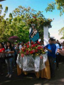 Imagen de la Virgen del Pilar,el bien mueble más preciado de la catedral de Barinas. Foto Marinela Araque, años 2013.