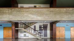 Edificación integrada al arte, obra de Carlos González Bogen en el Aula Magna. Patrimonio de la Humanidad, Venezuela.