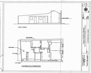 Planos internos de la Casa Agosto Méndez. Ciudad Bolívar. Patrimonio venezolano en riesgo.