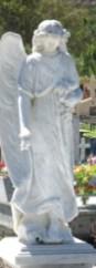 Escultura en mármol del cementerio municipal de Boconó, un museo sobre las tendencias artístticas funerarias de principios del siglo XX en Venezuela.