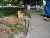 Construcción de la cerca perimetral del parque Los Mangos, ciudad de Barinas. Bien cultural del estado Barinas, Venezuela.