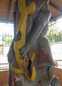 escultura El Indio. Bien cultural del estado Barinas, Venezuela.