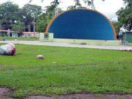 Escenario del parque Los Mangos, o concha acústica, en desuso. Bien cultural de Barinas, Venezuela.