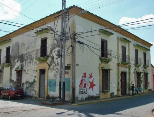 Fachada de Casacoima en 2012, antes de su última restauración. Manumento histórico nacional de Venezuela.