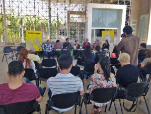 En la rueda de prensa por el robo del MACZUL se presentaron personalidades ligadas a la cultura del estado Zulia. Patrimonio cultural venezolano en riesgo. Alerta cultural Venezuela.