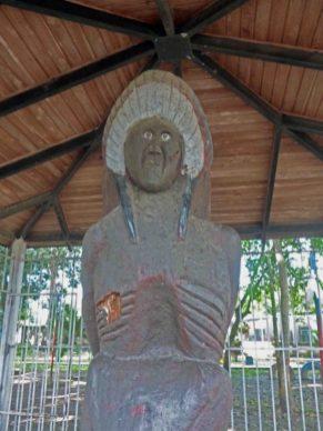 Escultura El Indio, bien cultural del estado Barinas. Venezuela.
