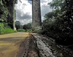 Monumento de La Puerta, en abandono institucional. Patrimonio nacional de Venezuela.