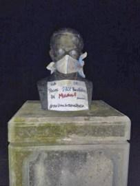 Las protestas en Venezuela se apropian del simbolismo de las estatuas. Estado Mérida.