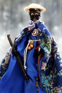 Representación popular de San Benito, santo que representa las raíces afroamericanas de la cultura venezolana.