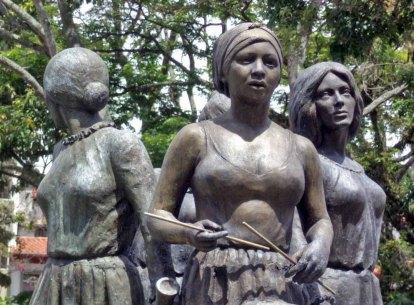Monumento a Las Heroínas, en la ciudad de Mérida. Patrimonio cultural de Venezuela.
