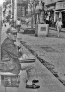 Bulevar de la calle 22 antes de ser ocupado por los buhoneros, en de octubre de 1995. Patrimonio cultural de Mérida, Venezuela.