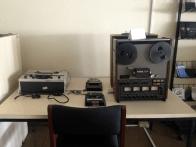 Equipos del archivo audiovisual - Coleccion Sonido y Cine. Foto: Mayerling Zapata López