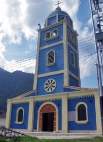 Fachada de la iglesia San Vicente Ferrer. Patrimonio cultural de Táchira, Venezuela.