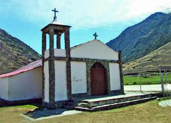 La iglesia-de-gavidia, construida con materiales locales. Patrimonio cultural de Mérida, Venezuela.