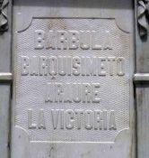 Inscripción lateral derecho del pedestal. Patrimonio histórico del municipio Mérida, estado Mérida. Venezuela.