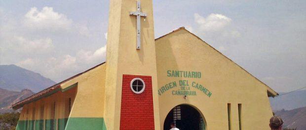 Santuario de la Virgen del Carmen de Caña Brava. Patrimonio cultural de Táchira, Venezuela.