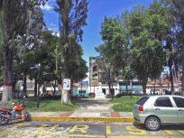Zona central de la plaza Rivas Dávila vista desde el costado suroeste. Patrimonio histórico del municipio Mérida, estado Mérida. Venezuela.