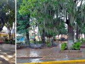 Plaza Bolívar de Boconó. Trujillo, patrimonio cultural de Venezuela.