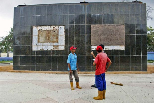Parque La Marina, vandalizada por la mafia del cobre. Patrimonio cultural venezolano en peligro. Maracaibo, estado Zulia.