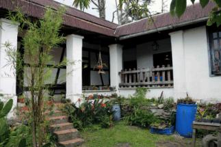 Vértice en el que se unen las dos alas de la casa vista desde el patio interno. Foto: José Luis Rosales.