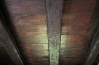 Techo interno de la casa con vigas originales de 1845. Foto: José Luis Rosales.