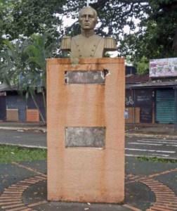 Ladrones del bronce se llevaron las placas de Antonio Nicolás Briceño en septiembre de 2017.