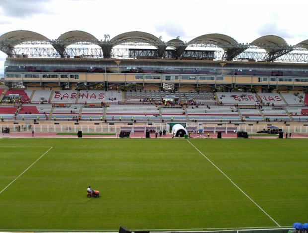 Estadio olímpico Agustín Tovar, o Estadio La Carolina, patrimonio en riesgo del estado Barinas, Venezuela.