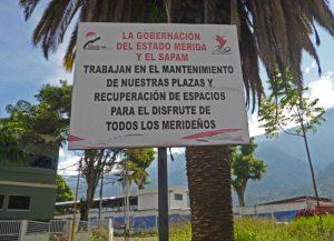 Parque de Las Madres de Mérida. Patrimonio cultural de Mérida, Venezuela, en peligro.