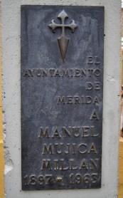 Monumento a Manuel Mujica Millán. Patrimonio cultural de la ciudad de Mérida, Venezuela.