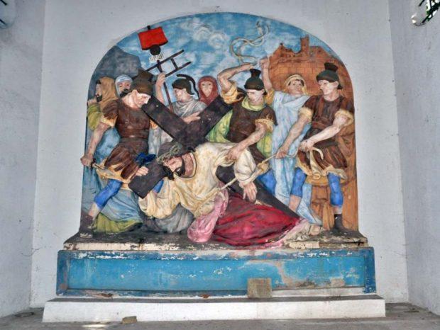 El Cristo de Maiquetía, plaza Jerusalén. Patrimonio cultural de Maiquetía, estado Vargas.