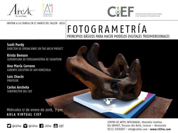 Charla de fotogrametría. Dictada por expertos de The Arc/k Project, IAM Venezuela y el CiEF
